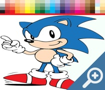 Coloring book for Sonic скриншот, screen