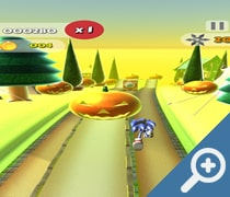 Sonic Halloween Ninja Go Boom скриншот, screen