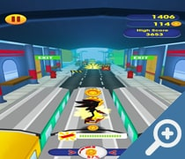 Super Shadow Sonic Surf скриншот, screen